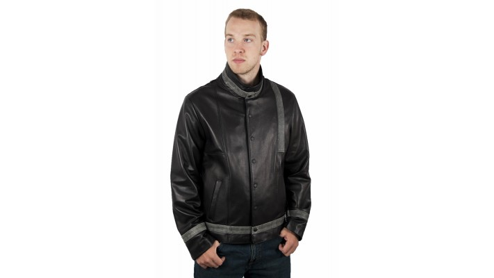 Lambskin soft leather jacket