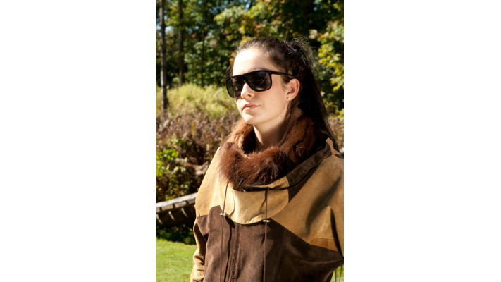 Brown fur Scarf for women